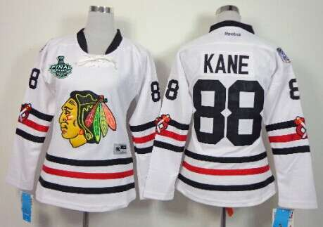 Women's Chicago Blackhawks #88 Patrick Kane 2015 Stanley Cup 2015 Winter Classic White Jersey