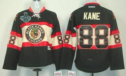 Women's Chicago Blackhawks #88 Patrick Kane 2015 Stanley Cup Black Third Jersey