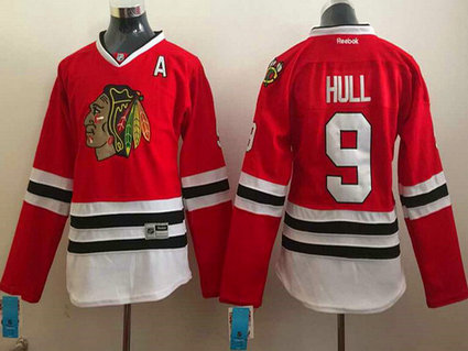 Women's Chicago Blackhawks #9 Bobby Hull Red Jersey