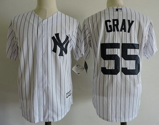 Yankees 55 Sonny Gray White Cool Base Jersey