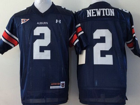 Youth Auburn Tigers #2 Cam Newton Navy Blue College Football Jersey