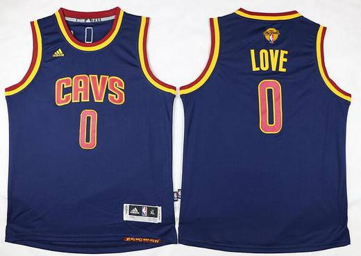 Youth Cleveland Cavaliers #0 Kevin Love Navy Blue 2016 The NBA Finals Patch Jersey