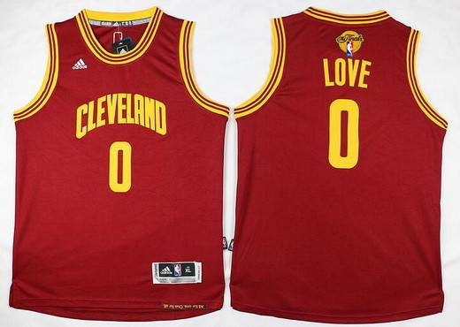Youth Cleveland Cavaliers #0 Kevin Love Red 2016 The NBA Finals Patch Jersey