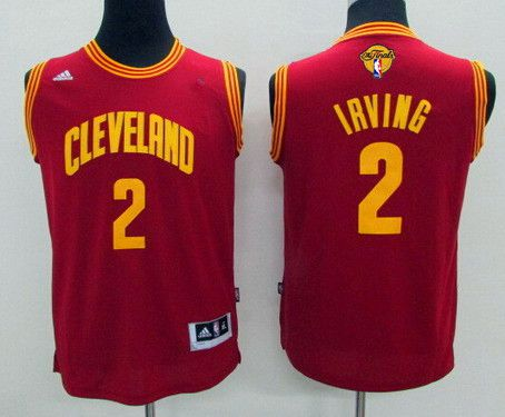 Youth Cleveland Cavaliers #2 Kyrie Irving Red 2016 The NBA Finals Patch Jersey