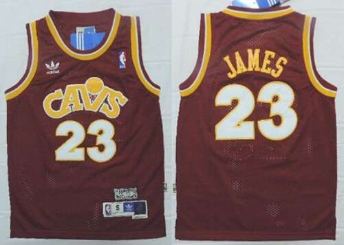 Youth Cleveland Cavaliers #23 LeBron James CavFanatic Red Hardwood Classics Soul Swingman Throwback Jersey