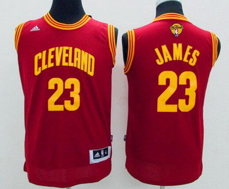 Youth Cleveland Cavaliers #23 LeBron James Red 2016 The NBA Finals Patch Jersey