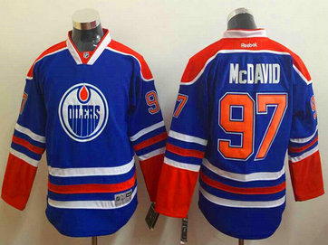 Youth Edmonton Oilers #97 Connor McDavid Royal Blue Jersey