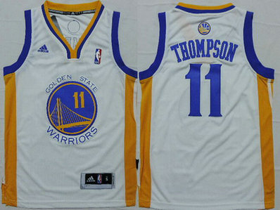 Youth Golden State Warriors #11 Klay Thompson White NBA Adidas Jersey