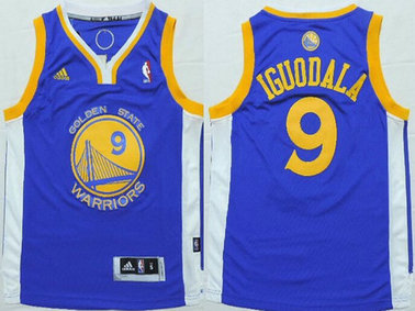 Youth Golden State Warriors #9 Andre Iguodala Blue NBA Adidas Jersey