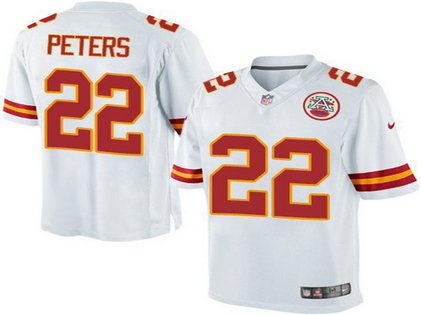 Youth Kansas City Chiefs #22 Marcus Peters White Nike Game Jersey
