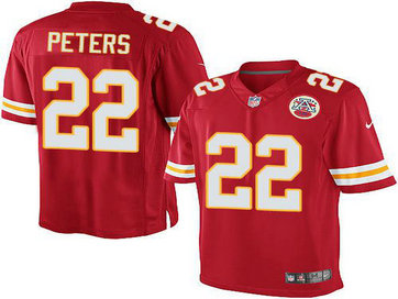 Youth Kansas City Chiefs #22 Marcus Peters red Nike Game Jersey