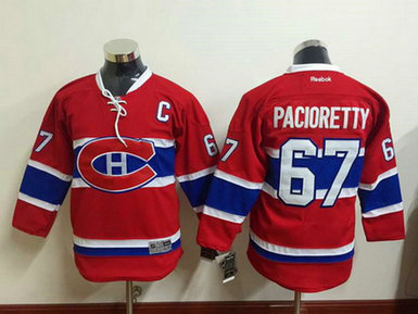 Youth Montreal Canadiens #67 Max Pacioretty Reebok Red 2015-16 Home Premier Hockey Jersey