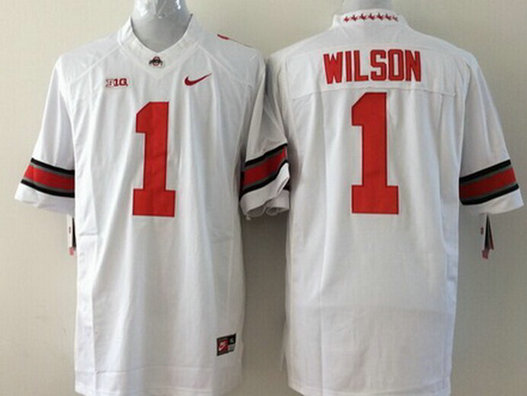 Youth Ohio State Buckeyes #1 Dontre Wilson White 2015 College Football Nike Limited Jersey