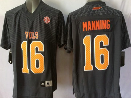 Youth Tennessee Volunteers #16 Peyton Manning Gray 2015 College Football adidas Jersey