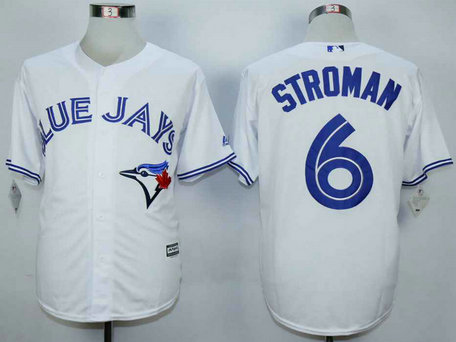 Youth Toronto Blue Jays #6 Marcus Stroman White New Cool Base Jersey