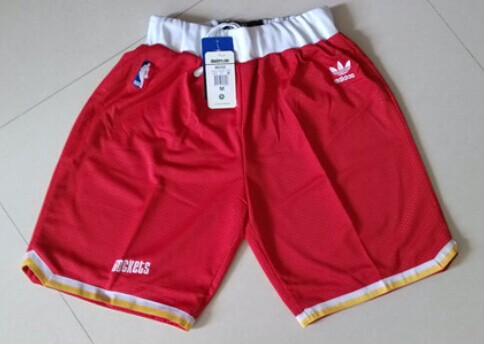Houston Rockets Red Throwback Short