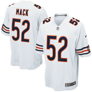 women Chicago Bears #52 Khalil Mack NikeWhite Game Jersey